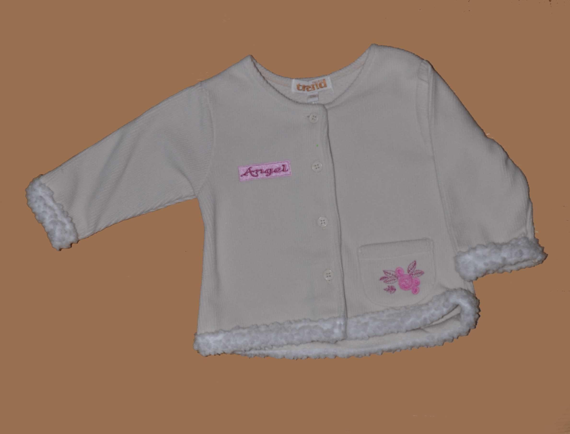 Sametový kabátek s kapsièkou vel. 12-18m béžová