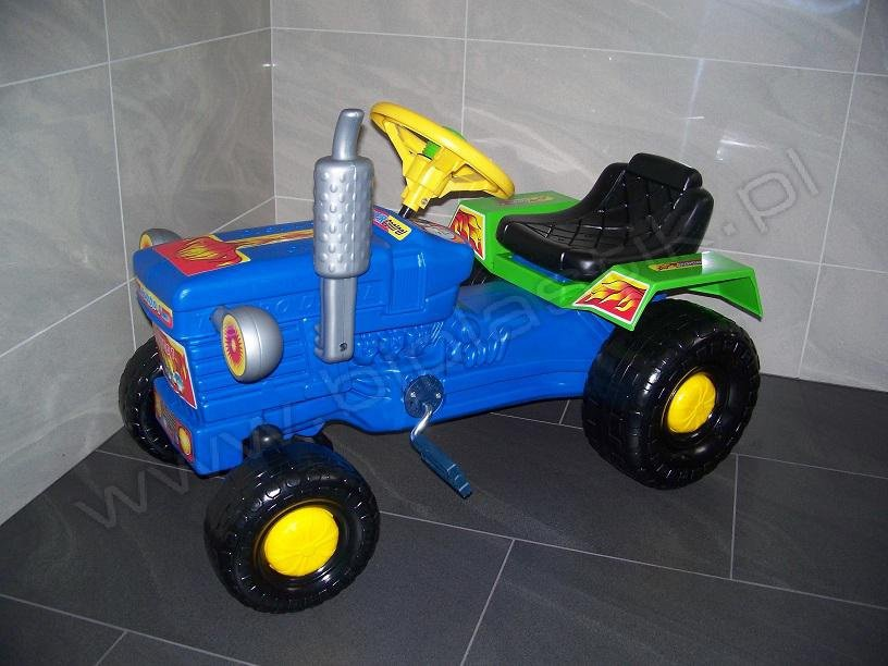 Traktor šlapací modrá