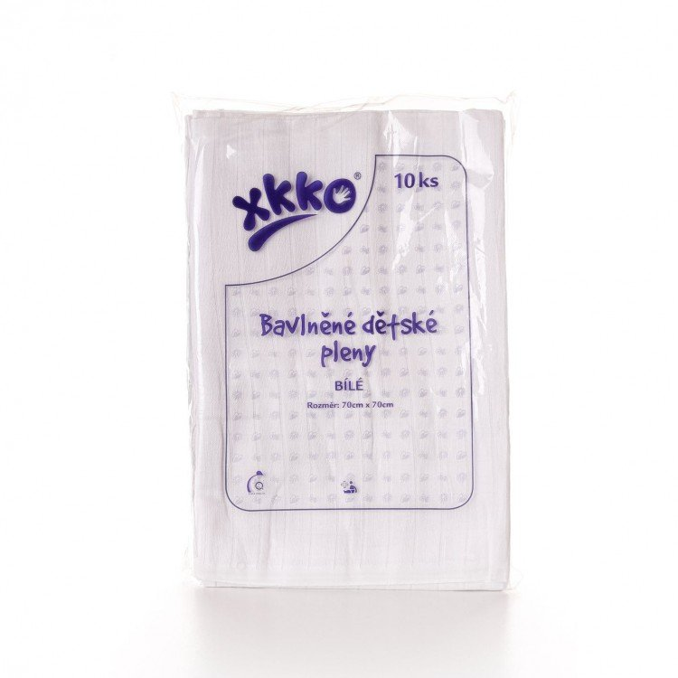 Bavlnìné pleny 70x70cm bílé Kikko