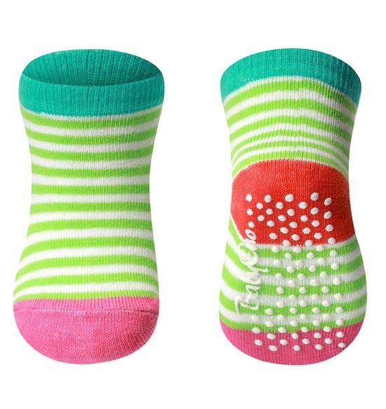 Dìtské bavlnìné ponožky s protiskluzem 0-6 m