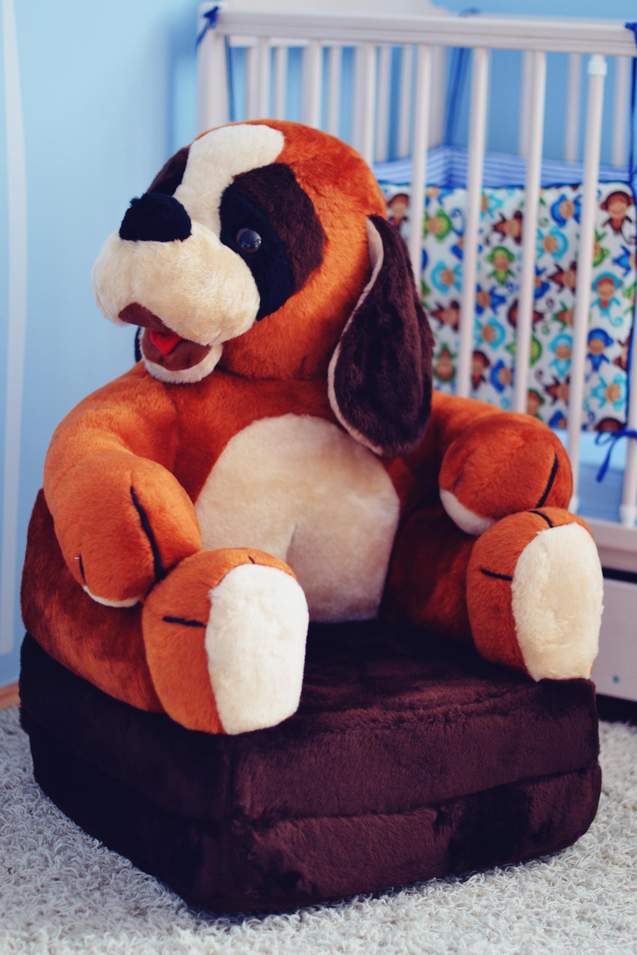 Plyšové køeslo pes bernardýn