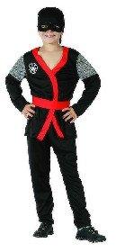 KARNEVAL Šaty Ninja èerné vel. M (120-130cm) 5-9 let KOSTÝM