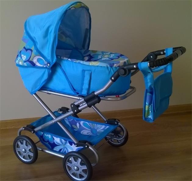 Koèárek pro panenky kombinovaný 2v1 Monika modrý