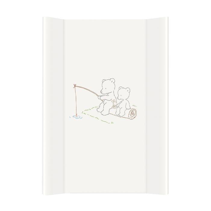 Pøebalovací podložka tvrdá Papa bear bílá zvednutý okraj 50x70 cm