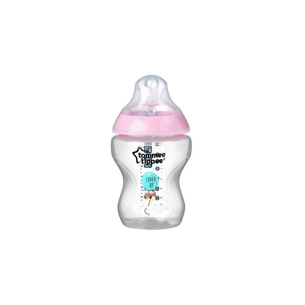 Kojenecká láhev se savièkou s pomalým prùtokem 260 ml dívèí s obrázkem
