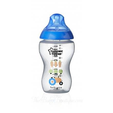 Kojenecká láhev se savièkou se støedním prùtokem 340 ml chlapecká s obrázkem
