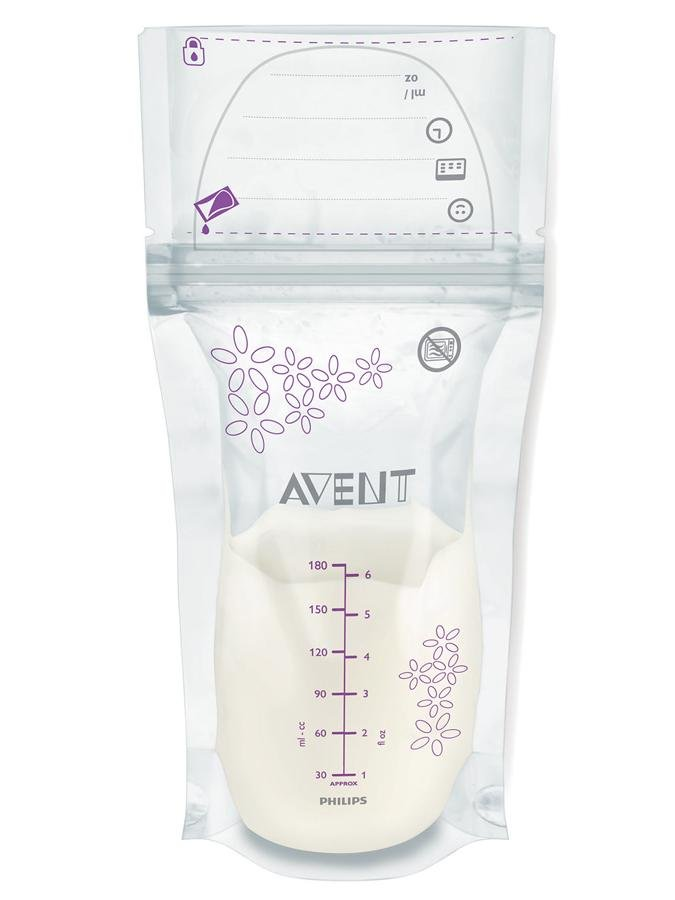 Sada sáèkù na mléko Avent 180 ml - 25 kusù