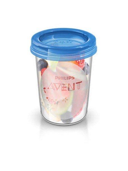 Sada Via pohárkù s víèkem Avent 240 ml - 5 ks