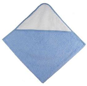 Osuška s kapucí 80x80 cm modrá