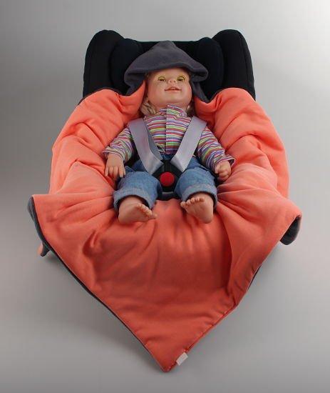 Zimní zavinovaèka šedá-oranžová doprodej