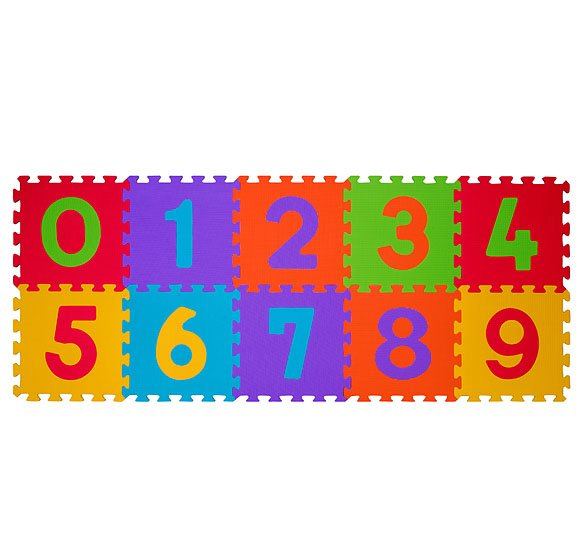 Pìnové puzzle èísla 10 ks