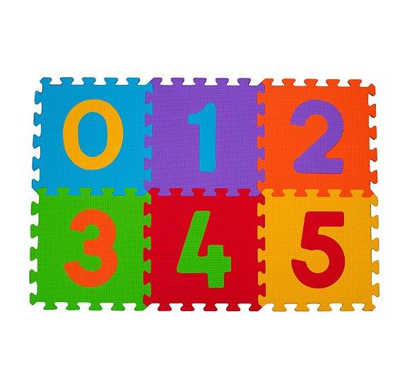 Pìnové puzzle èísla 6 ks