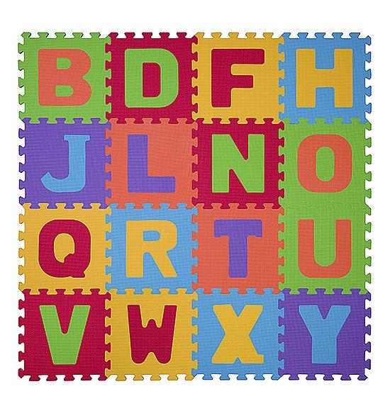 Pìnové puzzle písmenka 16 ks