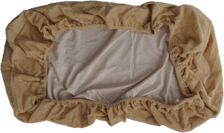 Nepropustné prostìradlo 90x200cm béžové froté bavlna