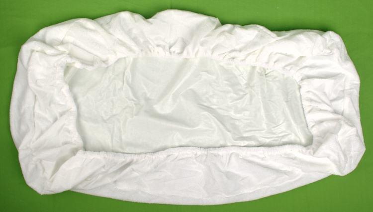 Nepropustné prostìradlo 90x220cm bílé froté bavlna