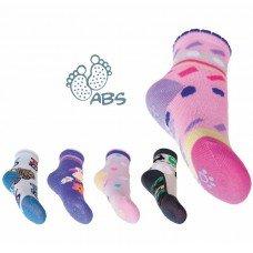 Bavlnìné ponožky s protiskluzem chlapecké  10-11 cm