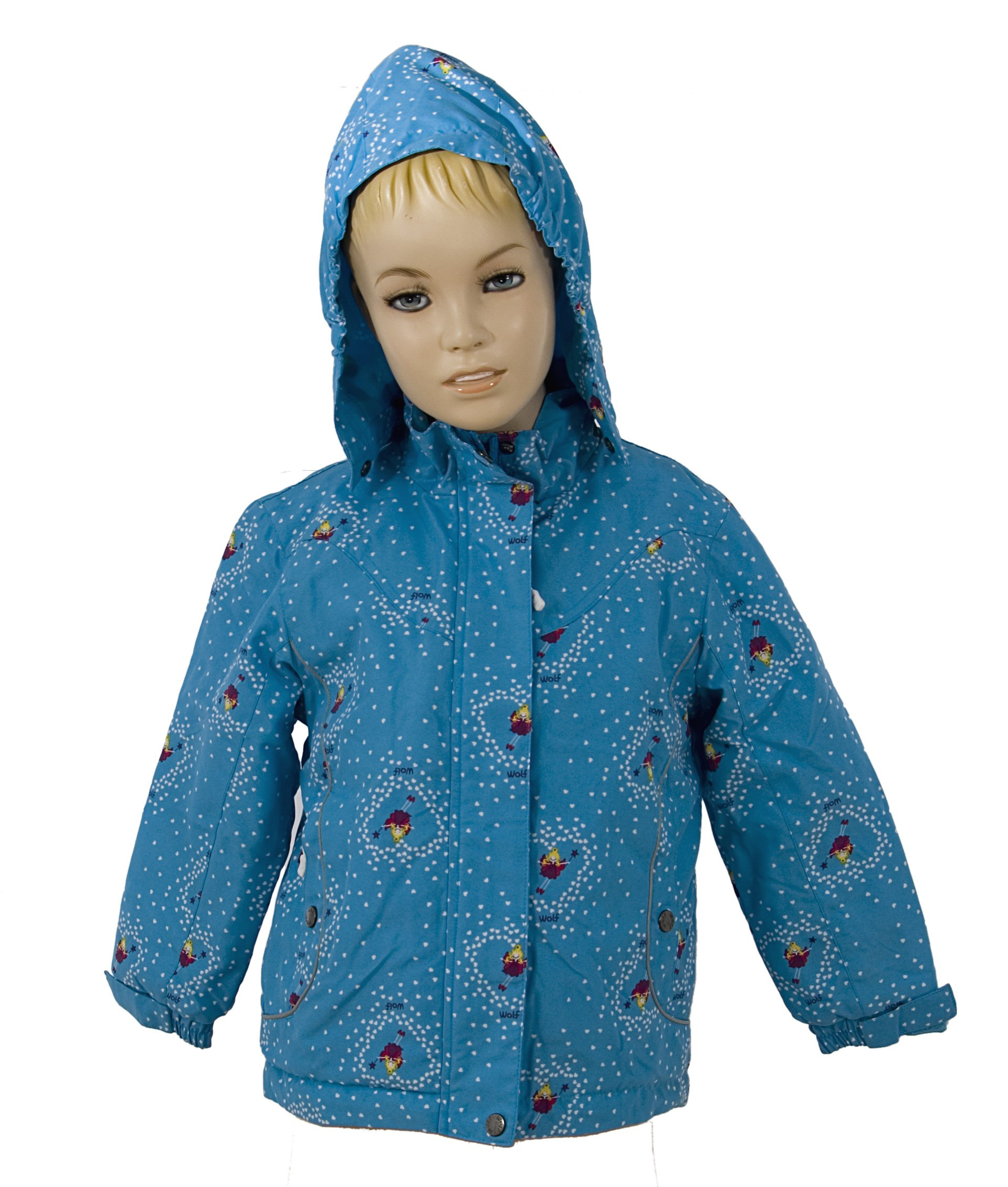 Bunda s fleece podšívkou a kapucí velikost 98-128 VÝPRODEJ