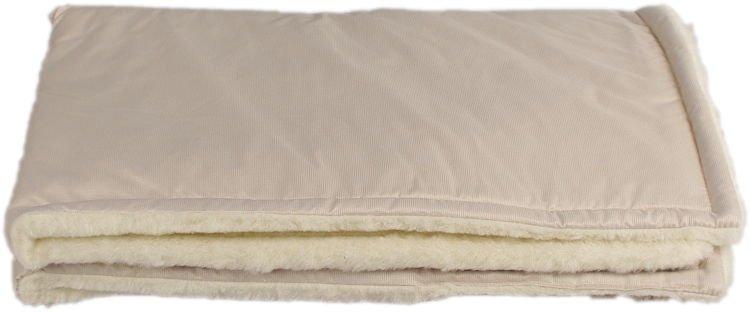 Béžová zimní deka merino
