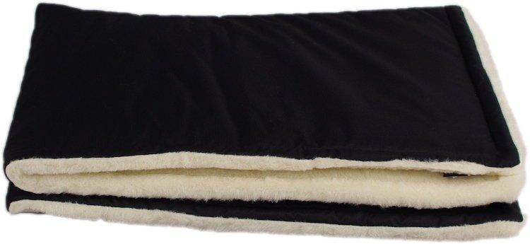 Èerná zimní deka merino
