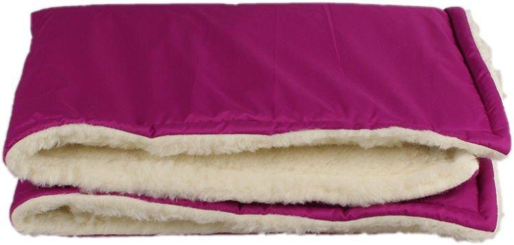 Fialová zimní deka merino