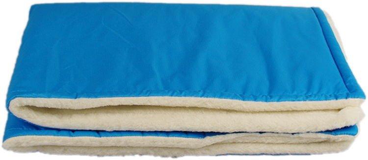 Tyrkysová zimní deka merino