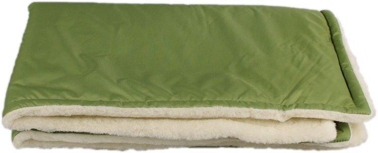 Zelená zimní deka merino