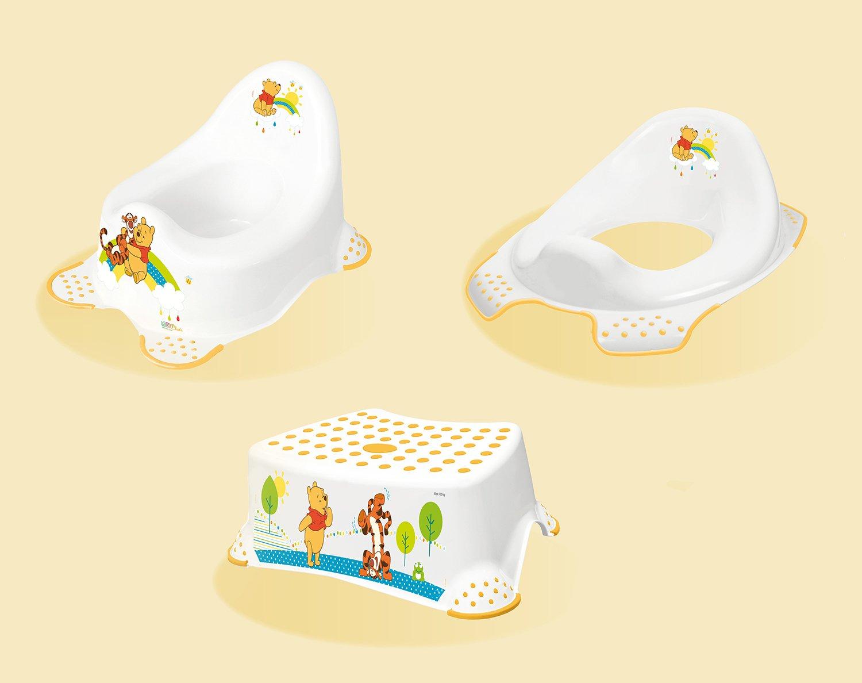 Hygienický set Medvídek Pú noèník + stolièka + redukce bílý