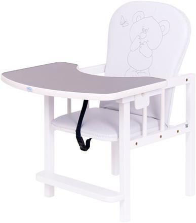 Jídelní židlièka Antonín medvídek a motýlek støíbrná