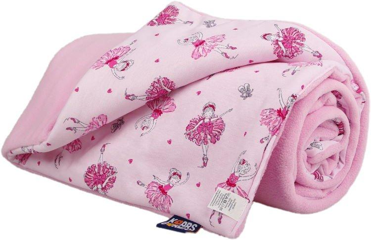 Zateplená dìtská deka rùžová baletky