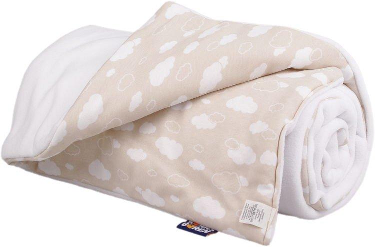 Zateplená dìtská deka bílé mráèky