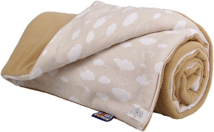 Zateplená dìtská deka béžové mráèky