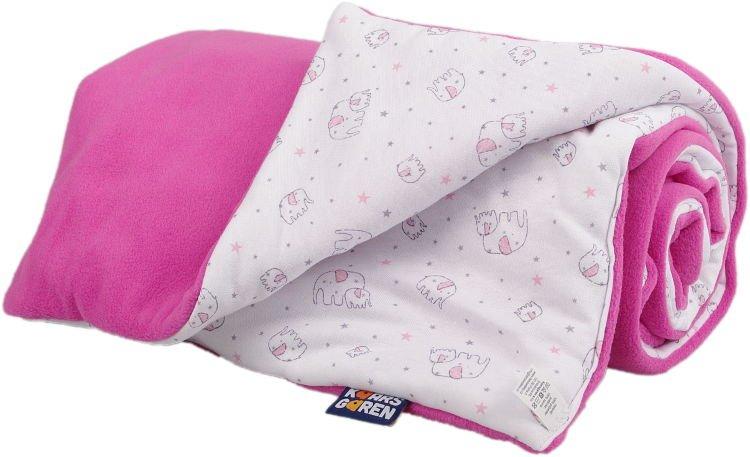 Zateplená dìtská deka rùžový sloník