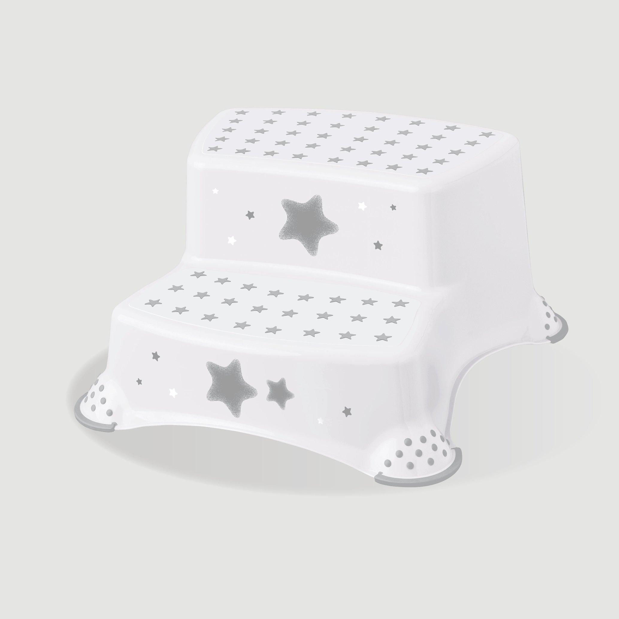 Protiskluzový stupínek stolièka dvoustupòová stars bílá