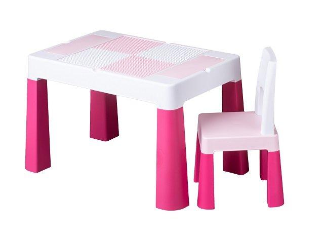 Dìtská sada stoleèek a židlièka Multifun rùžová