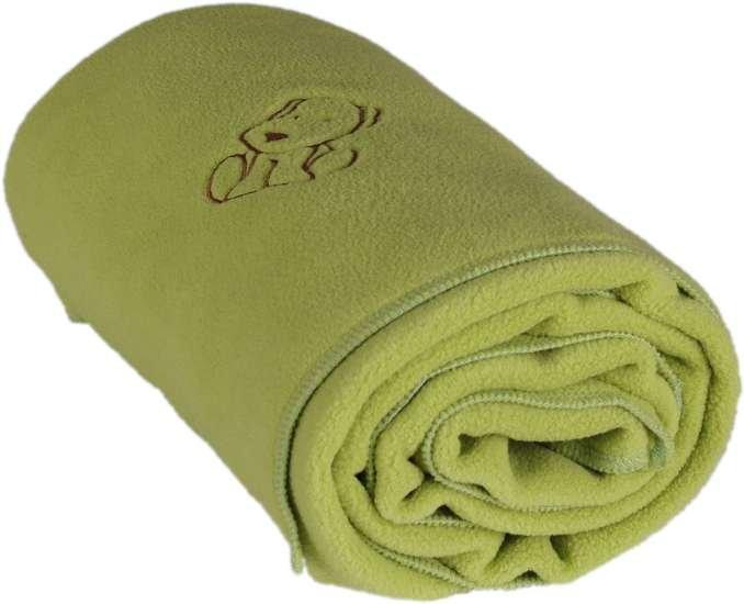 Dìtská flísová deka s pejskem 70x100 cm zelená