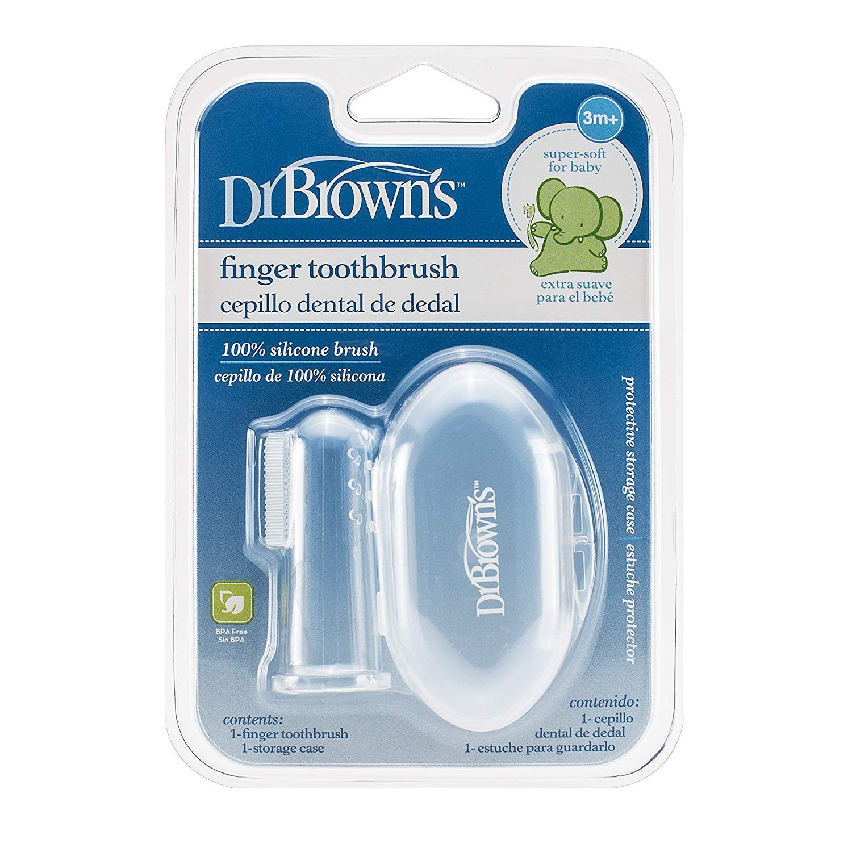 Kartáèek na èištìní zubù pro kojence na prst silikonový v krabièce