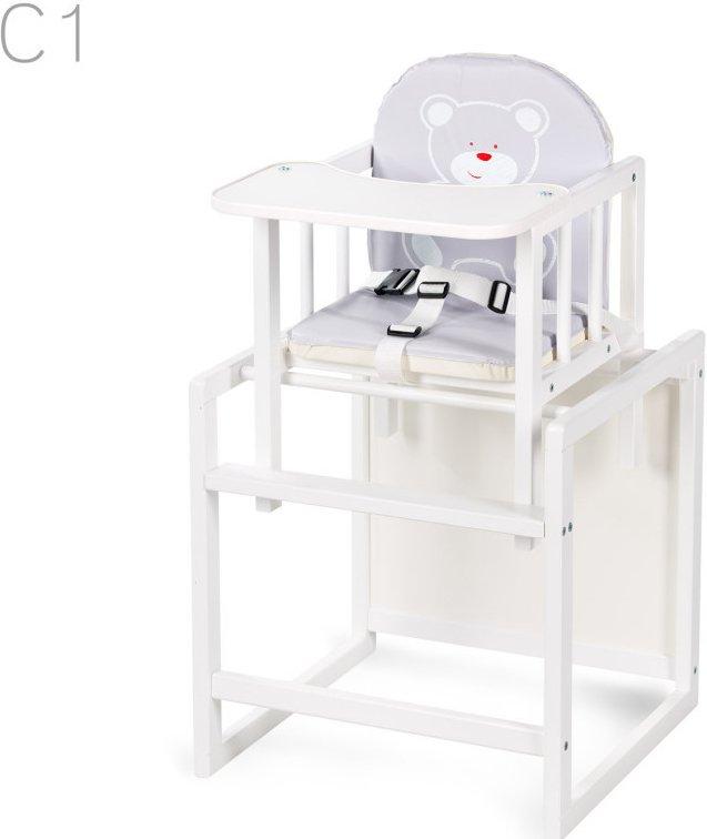 Jídelní židlièka AGA bílá