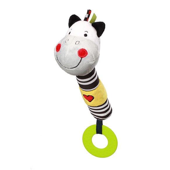 Pískací hraèka s kousátky zebra Zack