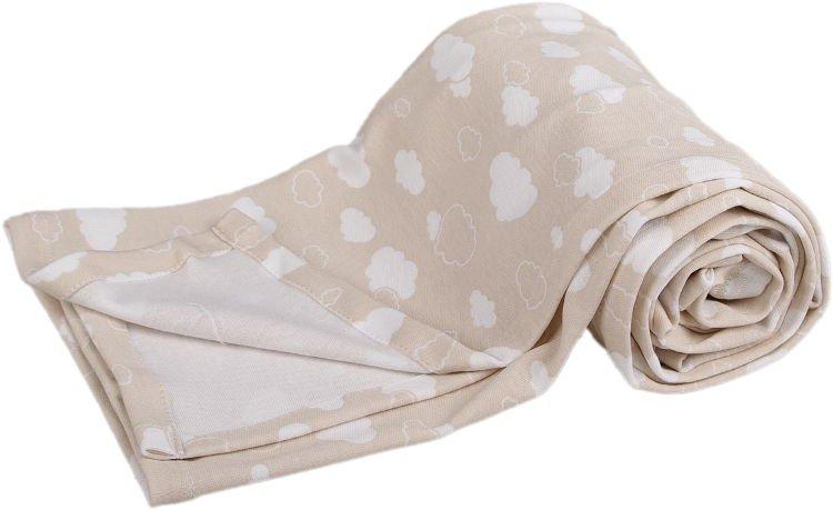Lehká letní deka 100x130cm béžová obláèky