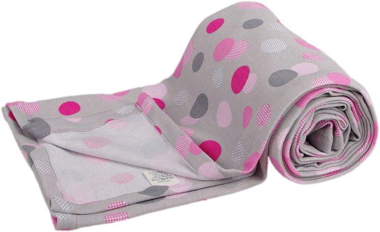 Lehká letní deka 100x130cm šedá puntíky