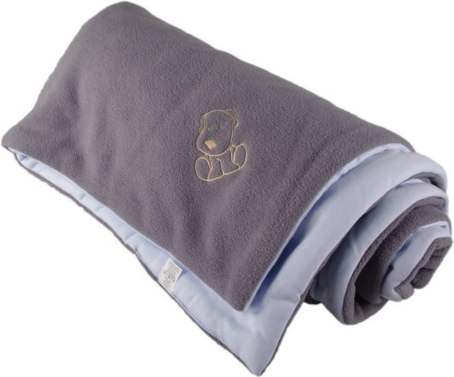 Zateplená dìtská deka šedo modrá - doprodej