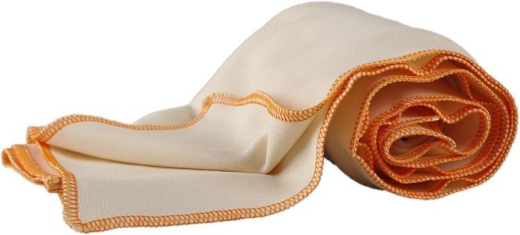 Letní deka z biobavlny oranžový lem
