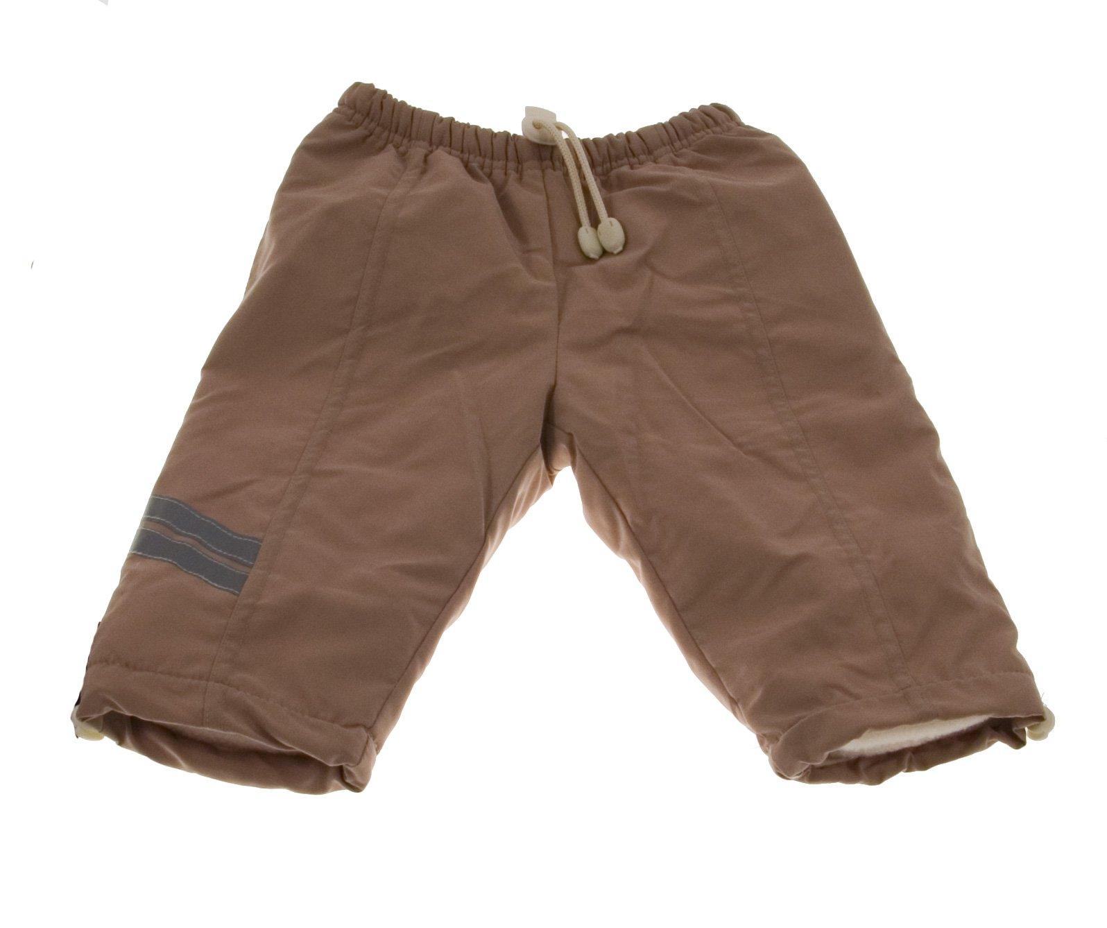 Oteplené kalhoty Mojmír béžové - VÝPRODEJ