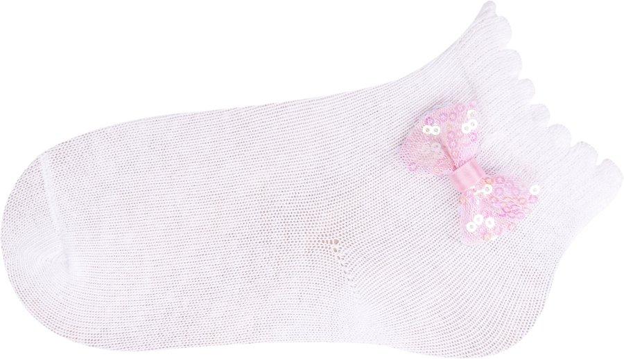 Ponožky kojenecké s mašlí 3-6 m holka