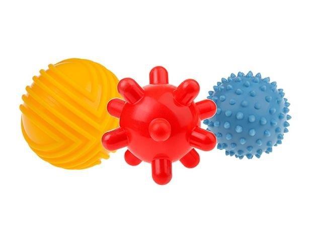 Senzorické stimulaèní gumové míèky 8cm 3ks 0m+