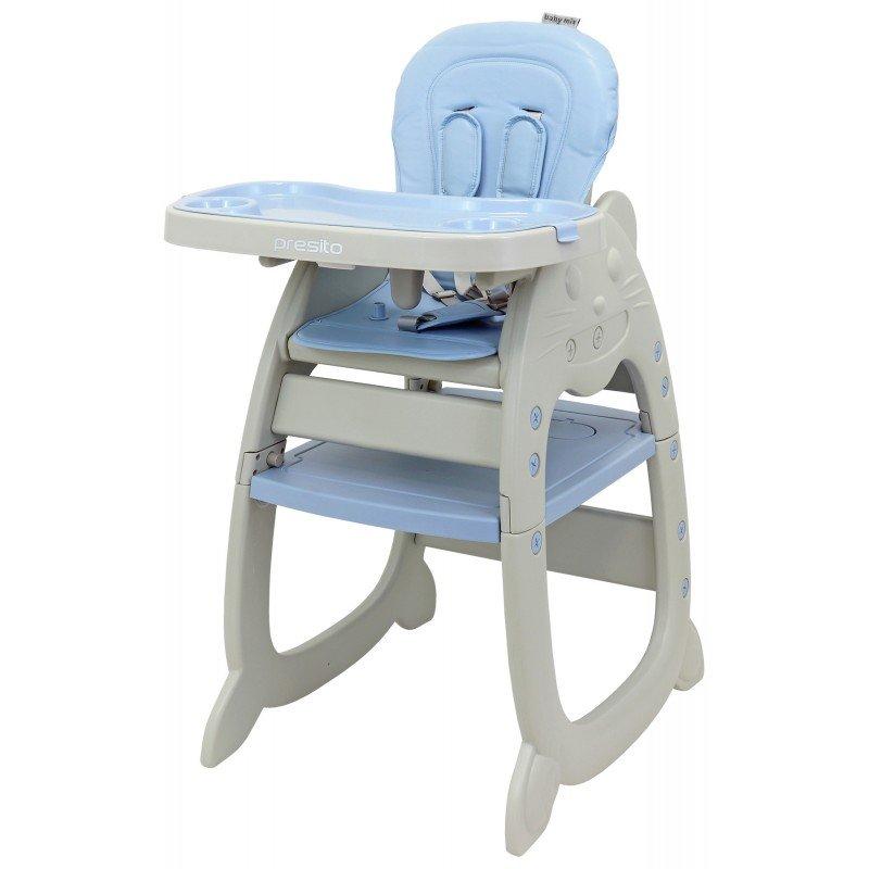 Krmící židlièka Presito 2v1 modrá
