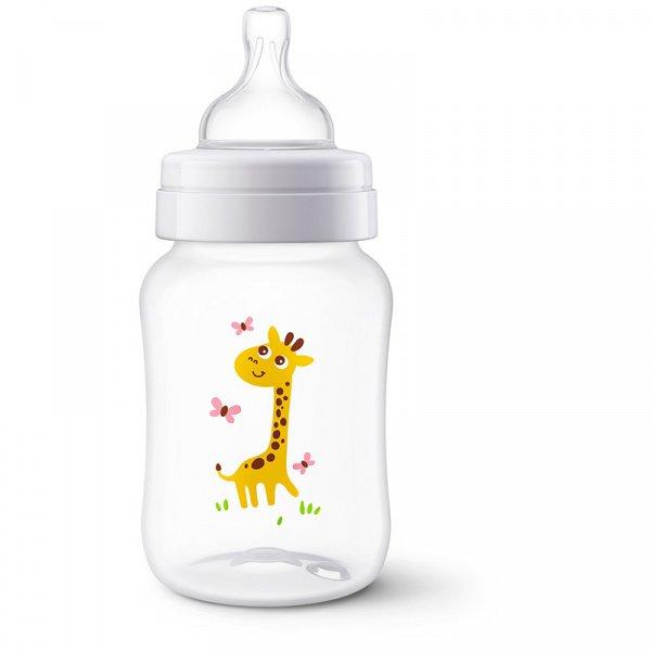 Kojenecká láhev antikoliková Classic+ 260 ml Žirafa