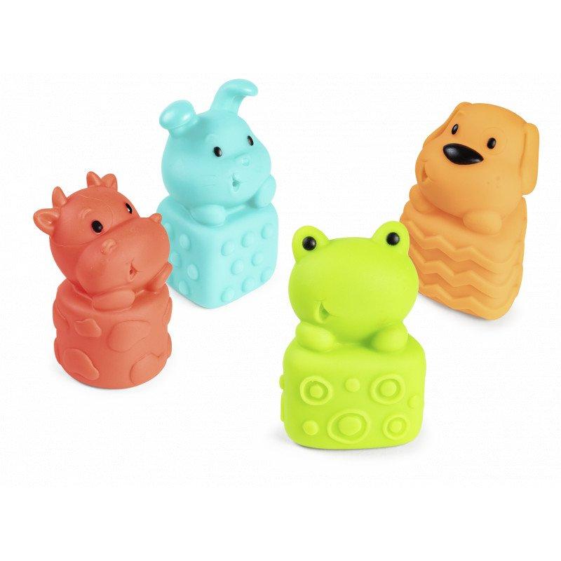 Sada gumových hraèek do vany s pískátkem zvíøátka