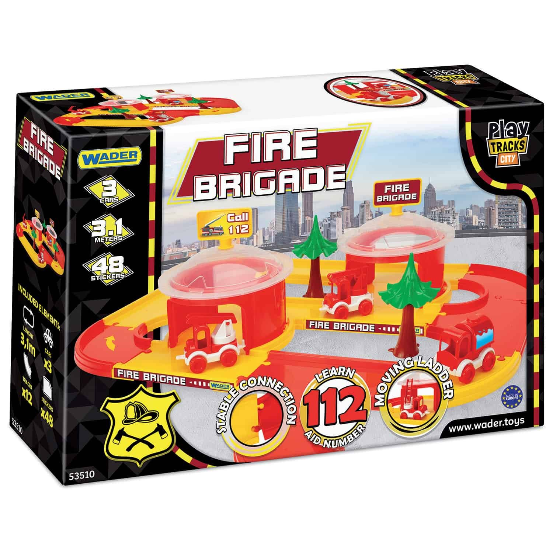 Dráha kid cars 3D + garáž hasièi