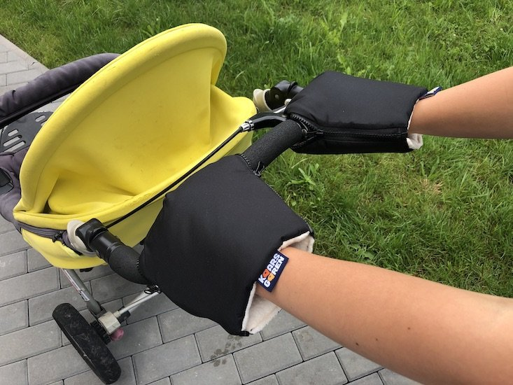 Èerné rukavice na koèárek biobavlna